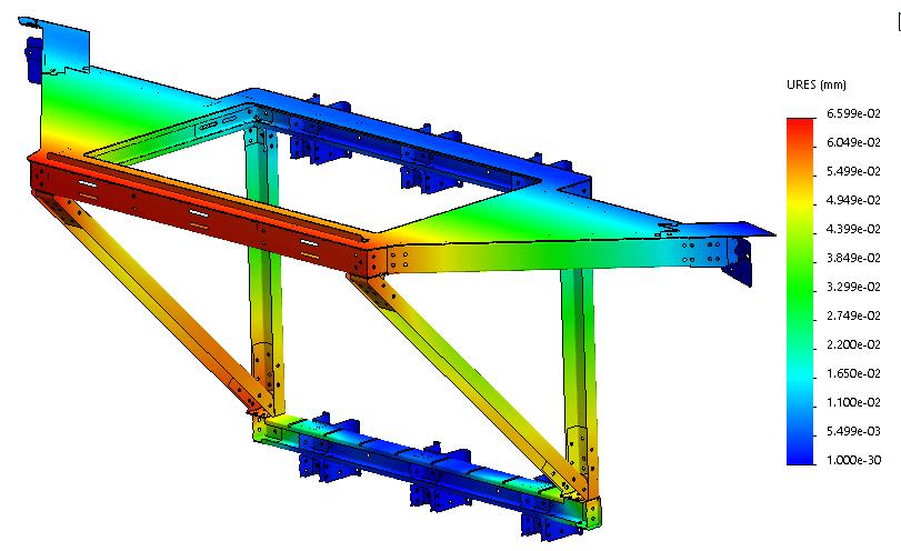 Avec cette ouverture de contrôle nouvellement développée pour un toit de biogaz, il a été examiné si les forces et les déviations causées par le toit du silo sont correctement transmises à la paroi du silo.
