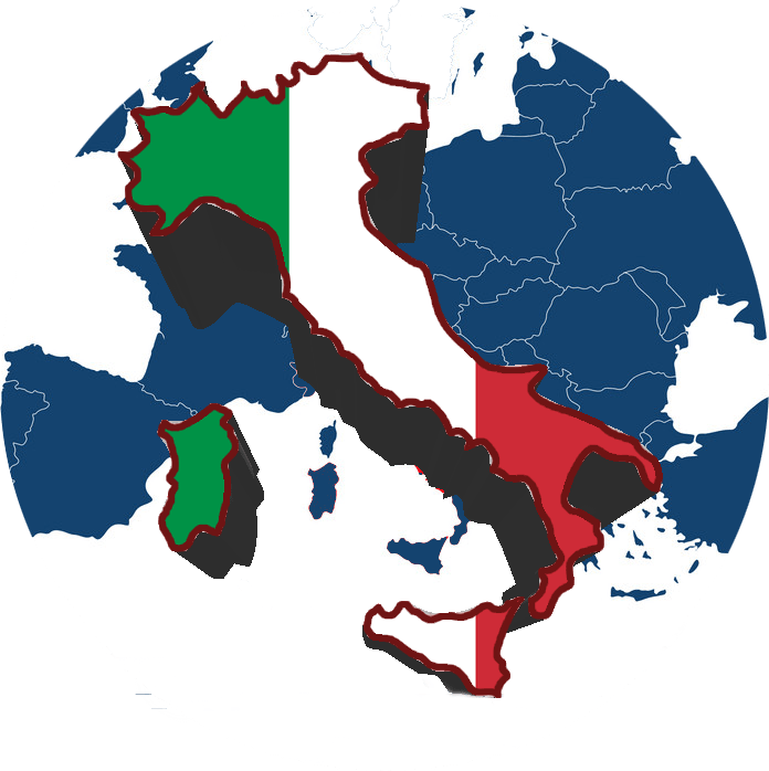 map-of-europe-with-highlighted-italy-vector-186953511